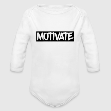 Motivate - Organic Long Sleeve Baby Bodysuit