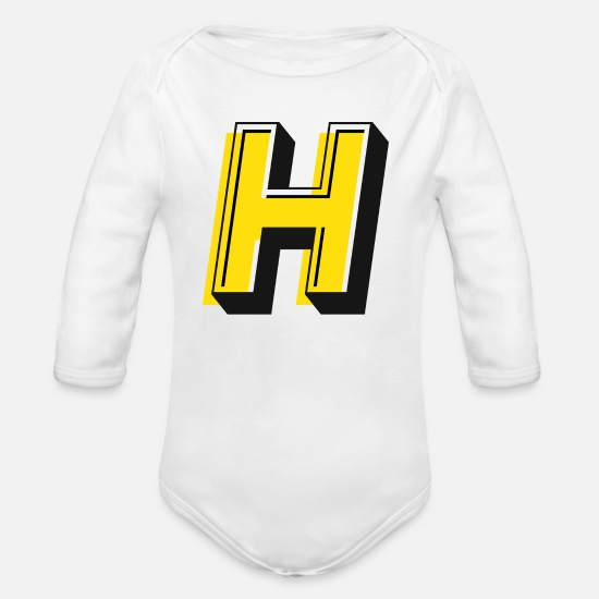 American Football Baby Clothing - Headlinesman - Organic Long-Sleeved Baby Bodysuit white