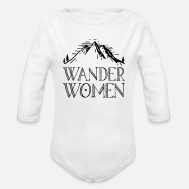 Alps Hiking saying gift nature mountain - Organic Long-Sleeved Baby Bodysuit