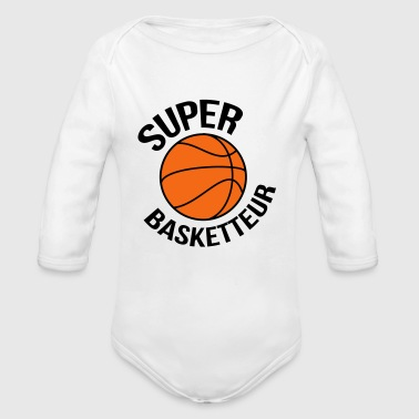 Basket Basketball Basket ball Basket-Ball Game Sport - Organic Long Sleeve Baby Bodysuit