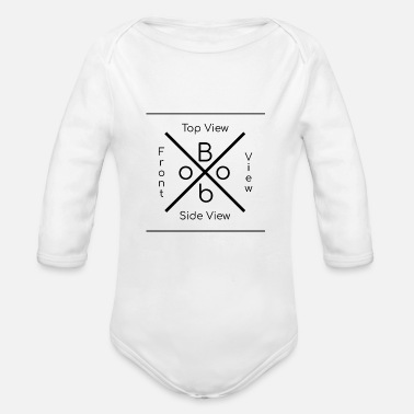 View boob perfect word top view side view front view - Organic Long Sleeve Baby Bodysuit