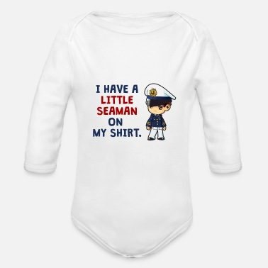 Seaman Little Seaman - Organic Long Sleeve Baby Bodysuit