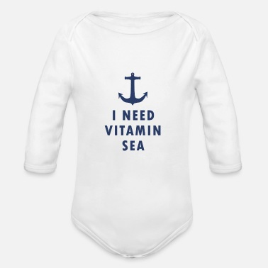 Everyone Go Back I NEED VITAMIN SEA - Organic Long-Sleeved Baby Bodysuit