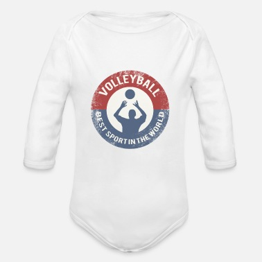 Volleyball Player Volleyball player - Organic Long Sleeve Baby Bodysuit