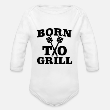 Born To Grill Born To Grill - Organic Long-Sleeved Baby Bodysuit