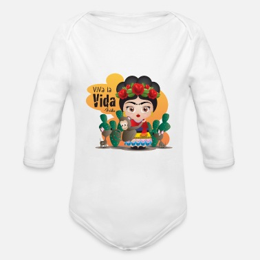 Frida Frida Kahlo Quotes - Organic Long-Sleeved Baby Bodysuit