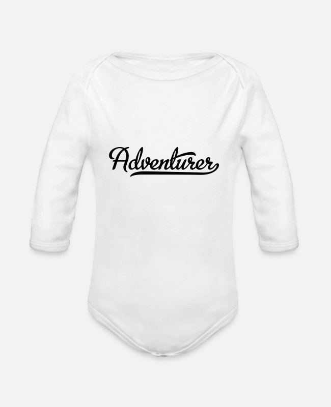 Nature Baby One Pieces - adventurer - Organic Long-Sleeved Baby Bodysuit white