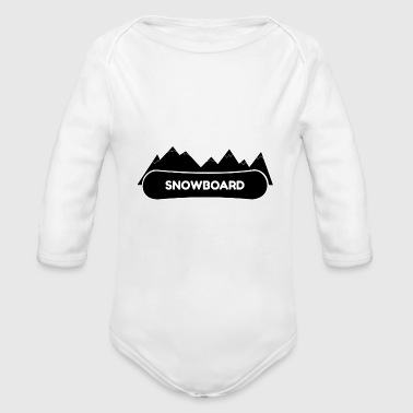 Boards Snowboard Board Boarding Sking Mountains - Organic Long Sleeve Baby Bodysuit