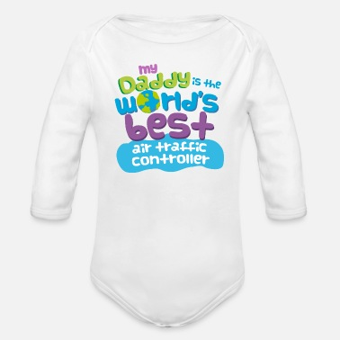Controller Air Traffic Controller Dad - Organic Long-Sleeved Baby Bodysuit