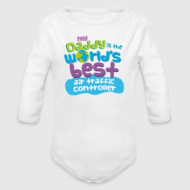 Air Air Traffic Controller Dad - Organic Long Sleeve Baby Bodysuit