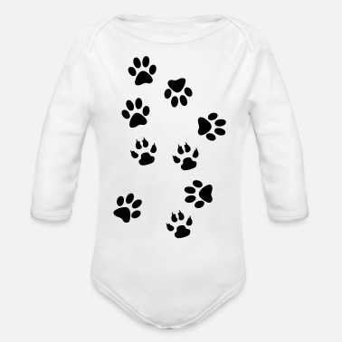 Paw paws - Organic Long-Sleeved Baby Bodysuit