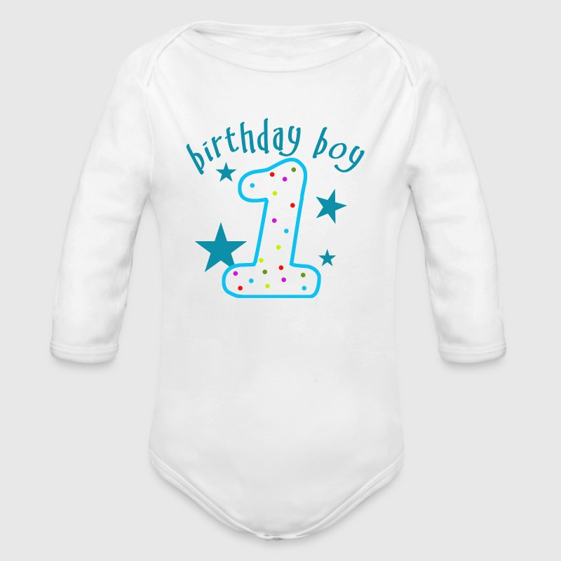 1st Birthday Boy - Long Sleeve Baby Bodysuit