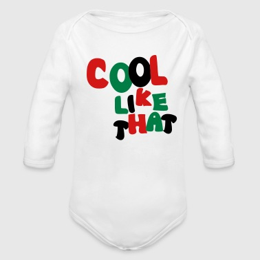 90s Cool Like That - Organic Long Sleeve Baby Bodysuit