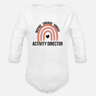 Teacher Assistant Activity Director Gifts | Activity Coordinator - Organic Long-Sleeved Baby Bodysuit
