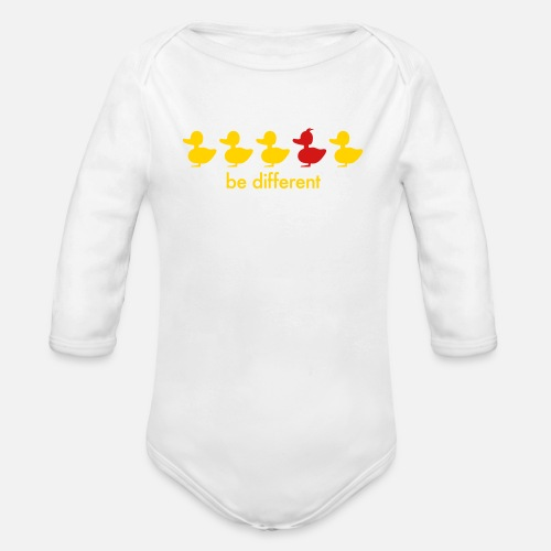 014b9c736 be different cute duck iroquoise ducklings Organic Long-Sleeved Baby ...