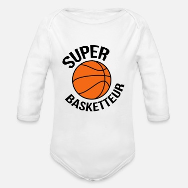 Basket Basketball Basket ball Basket-Ball Game Sport - Organic Long-Sleeved Baby Bodysuit