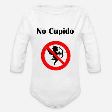 Cupido No Cupido Stay away Fun Anti-Valentine's-Day gift - Organic Long Sleeve Baby Bodysuit