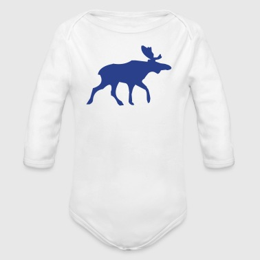 Moose Moose - Organic Long Sleeve Baby Bodysuit
