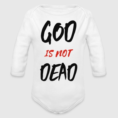 Grateful Dead God Is Not Dead - Organic Long Sleeve Baby Bodysuit