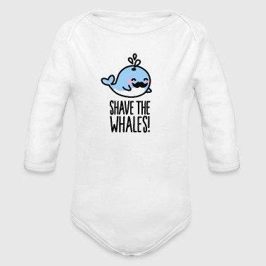 Shave the whales! - Organic Long Sleeve Baby Bodysuit