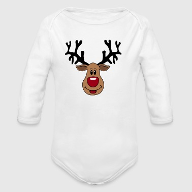 Rudolf 2 - Long Sleeve Baby Bodysuit