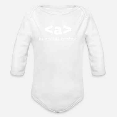 Relationship in a relationship - Organic Long Sleeve Baby Bodysuit