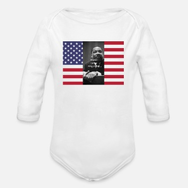 King Martin Luther King Jr Day's Graphic Novel - Organic Long Sleeve Baby Bodysuit