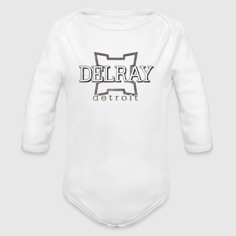 City of Detroit Delray Neighborhood Apparel - Organic Long Sleeve Baby Bodysuit