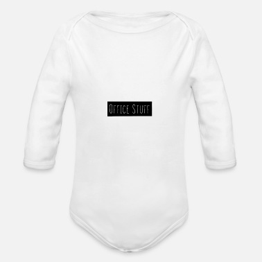 Office Office Stuff - Organic Long-Sleeved Baby Bodysuit