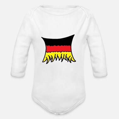 Flag Of Germany Germany Flag - Organic Long-Sleeved Baby Bodysuit