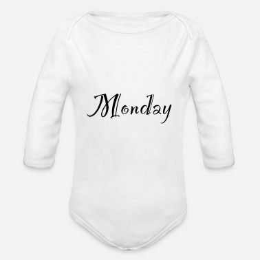 Monday Monday - Organic Long-Sleeved Baby Bodysuit
