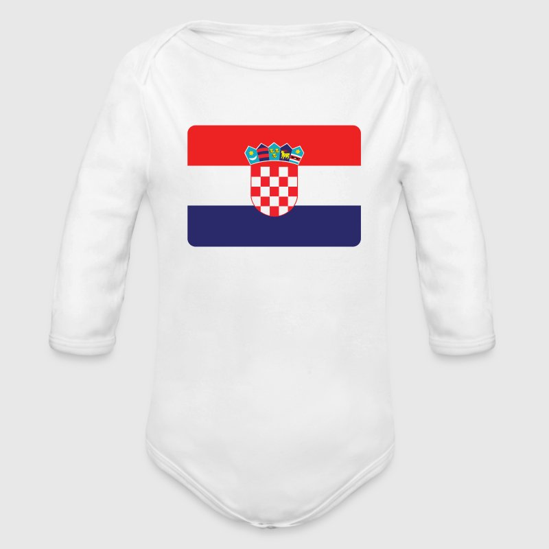 CROATIA IS THE NUMBER 1 - Organic Long Sleeve Baby Bodysuit