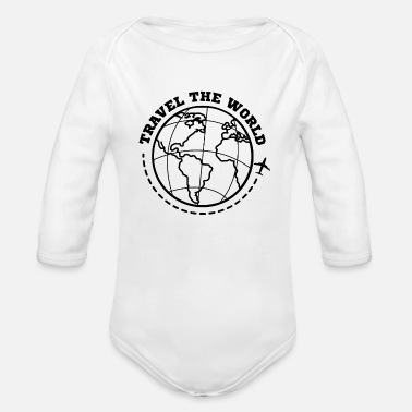 World Travel World Travel Travel - Organic Long-Sleeved Baby Bodysuit