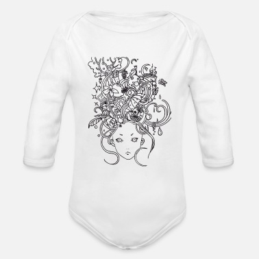 Dreamy Girl - Organic Long-Sleeved Baby Bodysuit