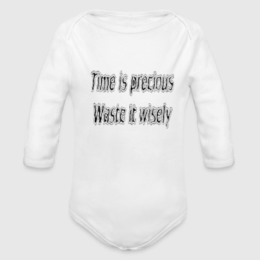 Funny quote - Organic Long Sleeve Baby Bodysuit