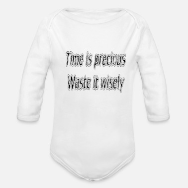 Quotes Funny quote - Organic Long Sleeve Baby Bodysuit