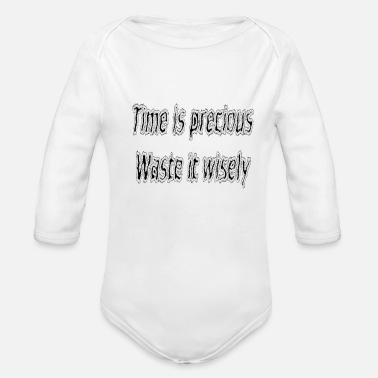 Funny Quotes For Girls Funny quote - Organic Long-Sleeved Baby Bodysuit