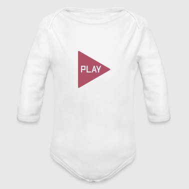 Playing Play - Organic Long Sleeve Baby Bodysuit