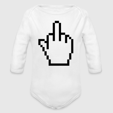 Middle Finger - Organic Long Sleeve Baby Bodysuit