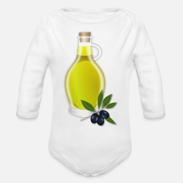 Oil Spill oil - Organic Long Sleeve Baby Bodysuit