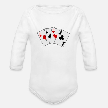 Ace Of Spades cards 20clip 20art playing card2 - Organic Long Sleeve Baby Bodysuit