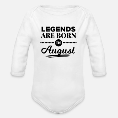 Lap legends are born in august birthday baby present - Organic Long Sleeve Baby Bodysuit