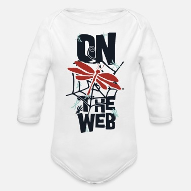 Web on the web - Organic Long Sleeve Baby Bodysuit