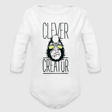 Clever Creatur - Organic Long Sleeve Baby Bodysuit