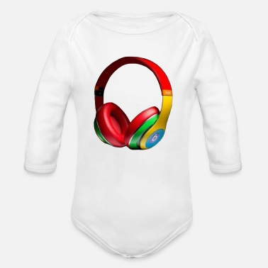 Hear hearing aid - Organic Long-Sleeved Baby Bodysuit