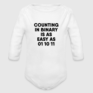 Computer Computer Science Binary - Organic Long Sleeve Baby Bodysuit