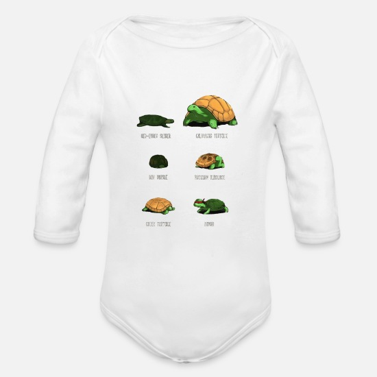 Reptile Baby Clothing - reptile - Organic Long-Sleeved Baby Bodysuit white