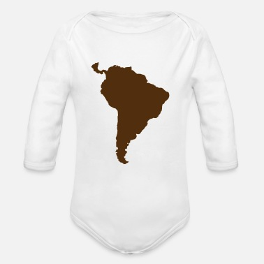 South America south america green - Organic Long Sleeve Baby Bodysuit