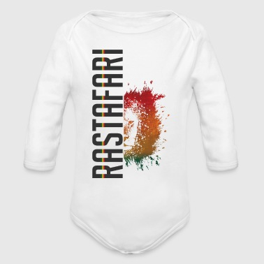 rastafari lion - Organic Long Sleeve Baby Bodysuit