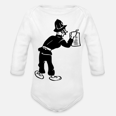 Gendarme Policeman with warrant - Organic Long-Sleeved Baby Bodysuit